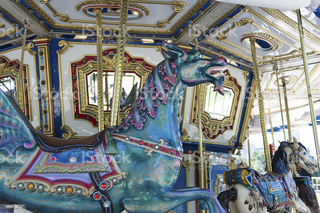 Boston Carousel stock photo