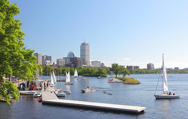 Boston Charles River Public Marina stock photo