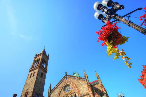Boston church on Copley Square stock photo