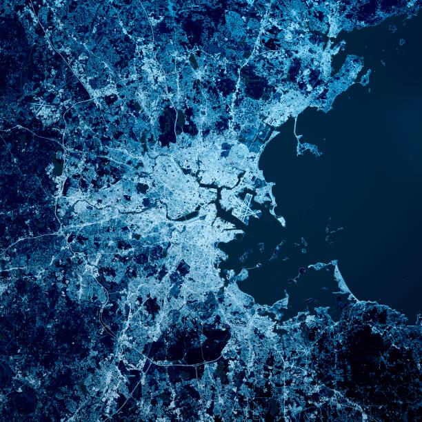 Boston City 3D Render Blue Top Ansicht Sep 2019 – Foto