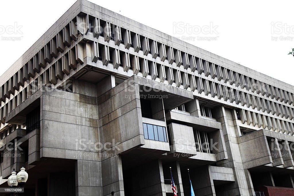 Boston City Hall stock photo
