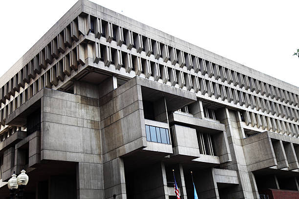 Boston City Hall stock photo