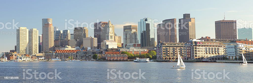 Boston City Panorama stock photo