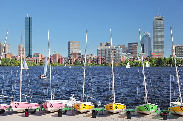 Boston City Rental SailBoats stock photo