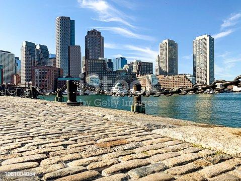 Boston Skyline view from the Fan Pier