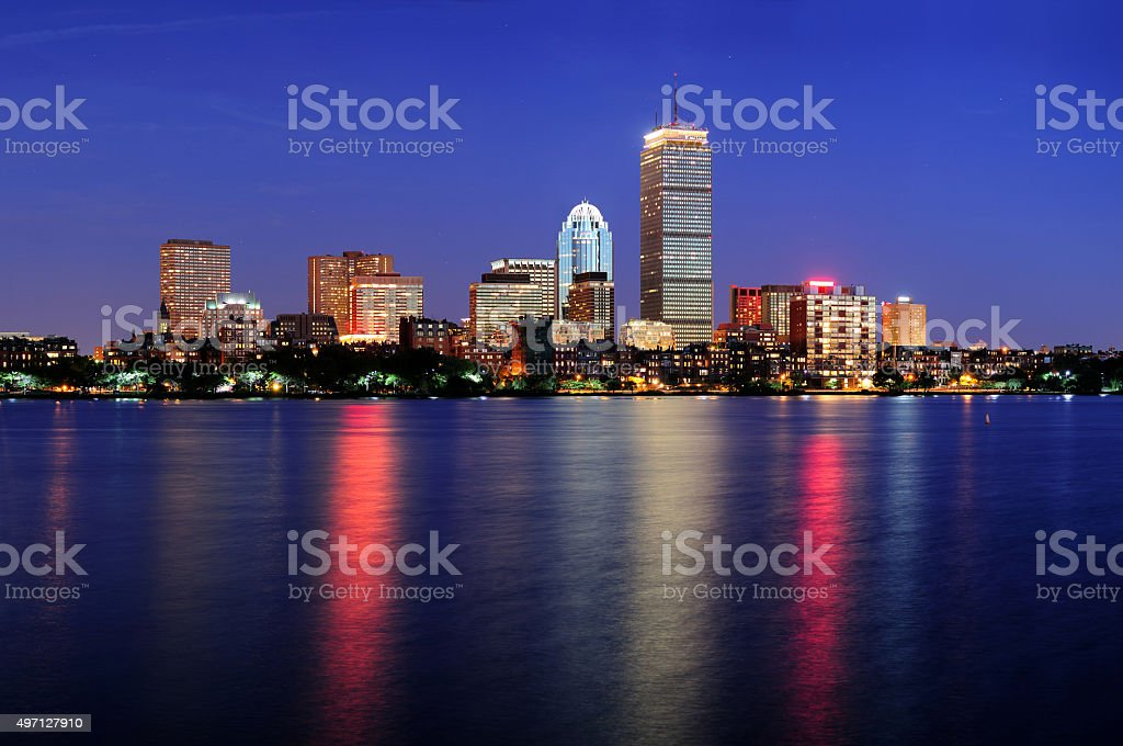 Boston city urban skyscrapers stock photo