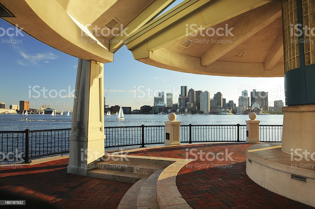 Boston City Viewpoint stock photo