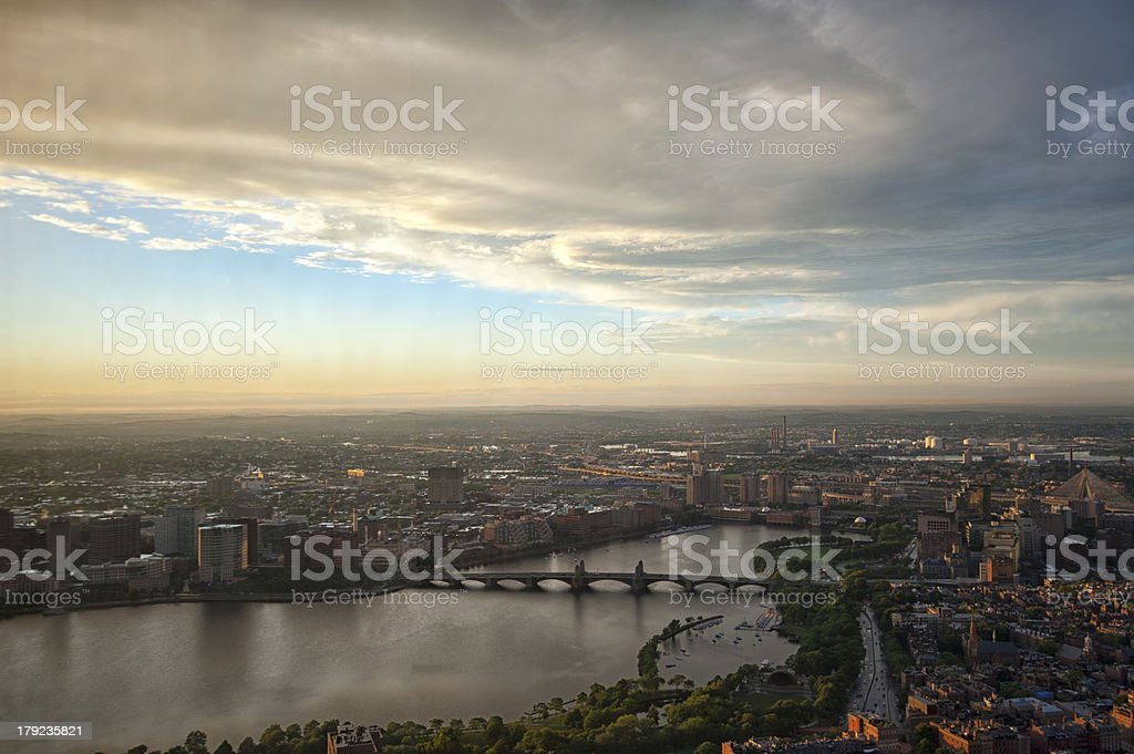 Boston cityscape after storm royalty-free stock photo
