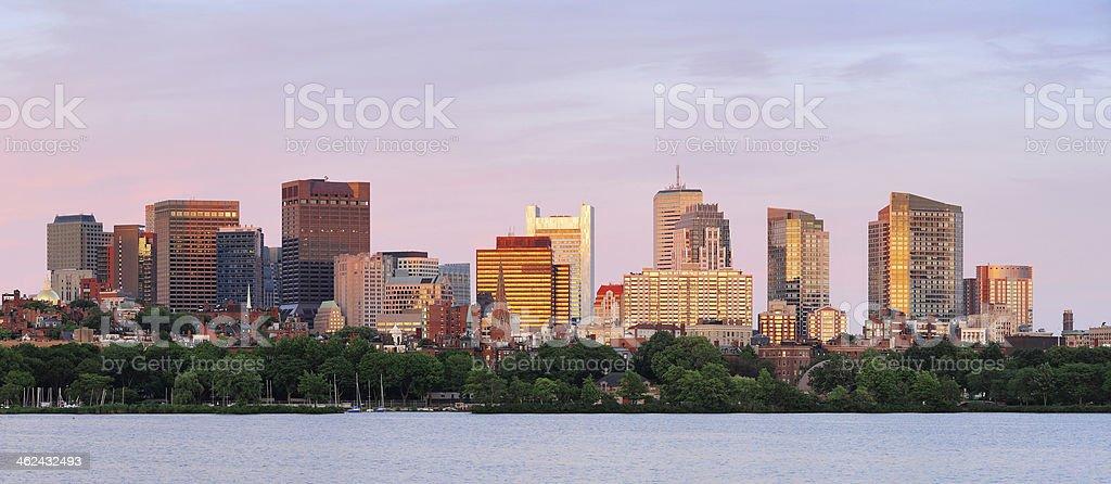Boston cityscape panorama royalty-free stock photo