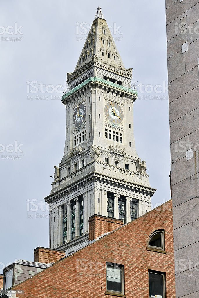 Boston Clock Tower stock photo
