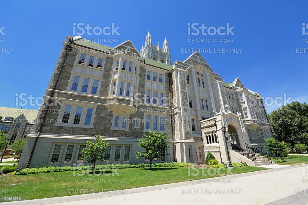 Boston College campus stock photo