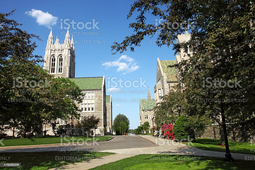 Boston College stock photo