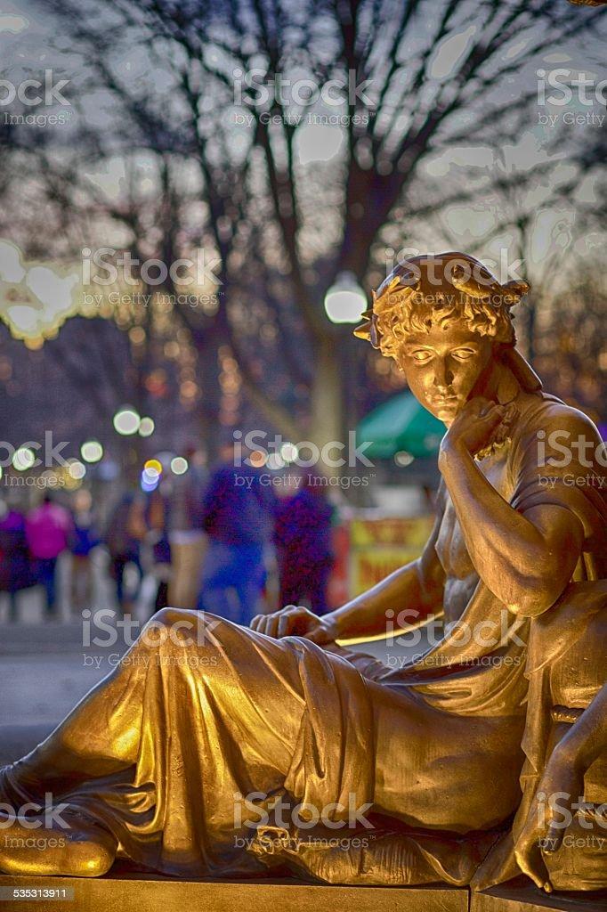 Boston Common Fountain stock photo
