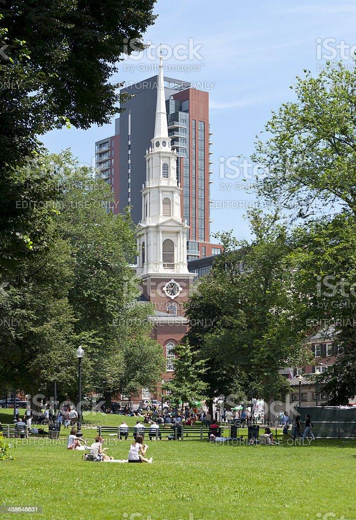 Boston Common, Massachusetts stock photo