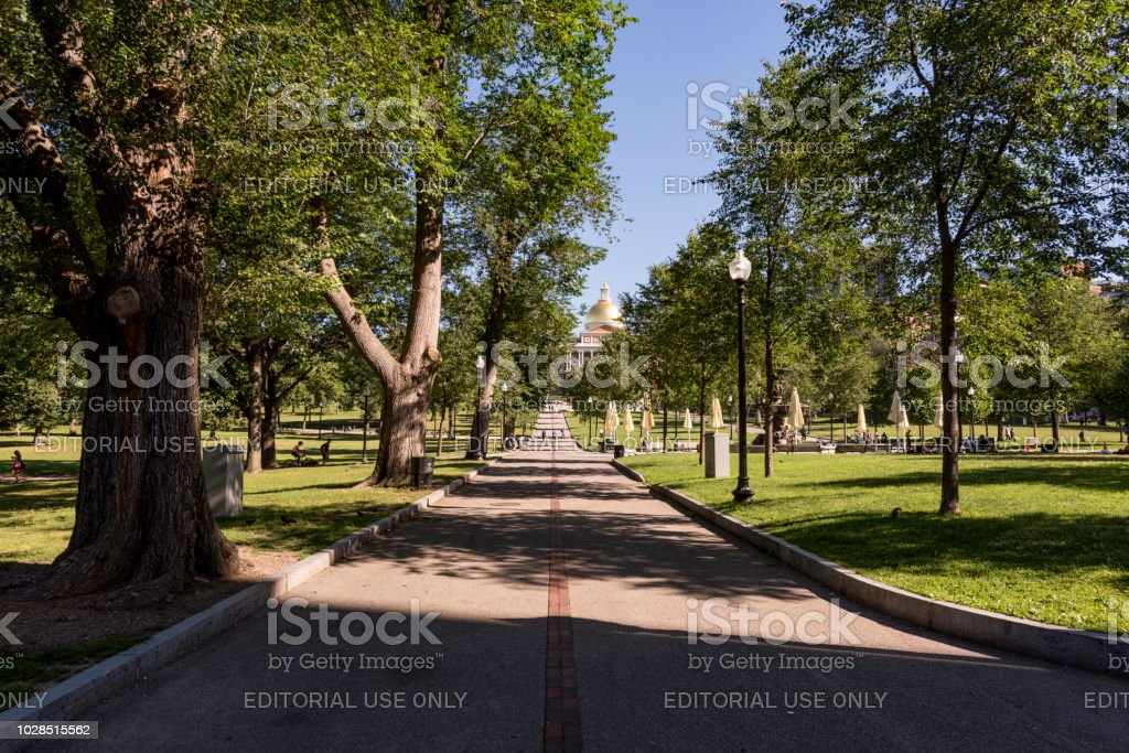 Boston Common public park stock photo