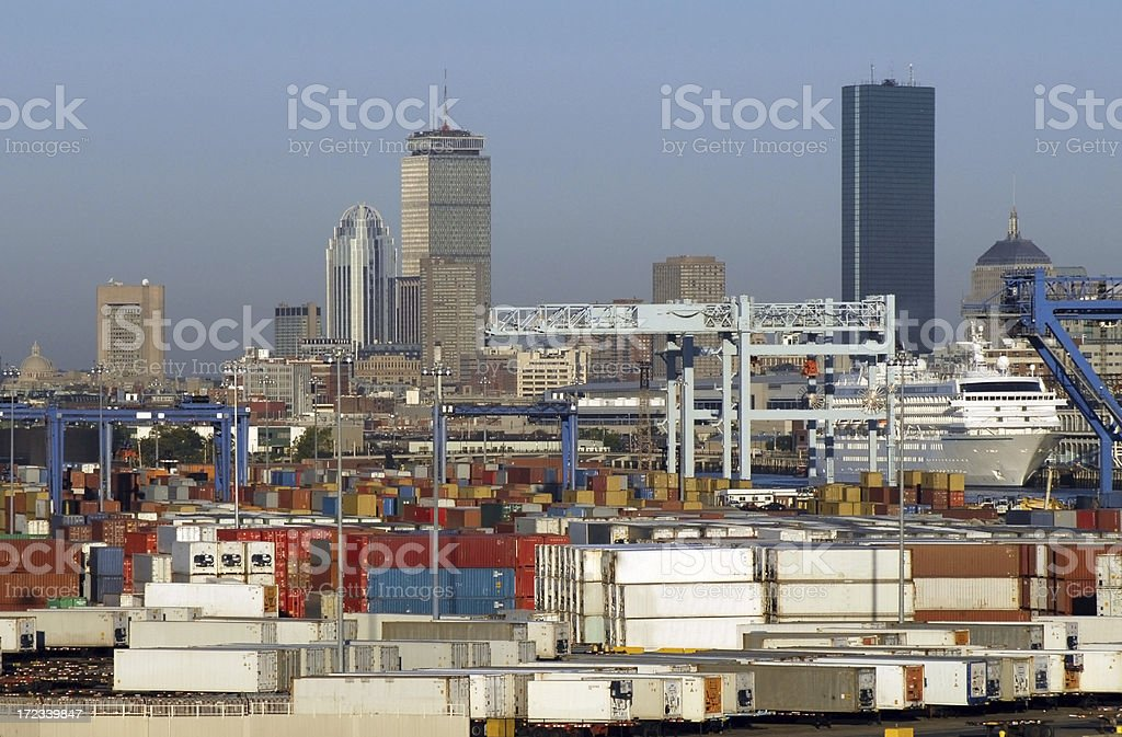 Boston Container Port royalty-free stock photo