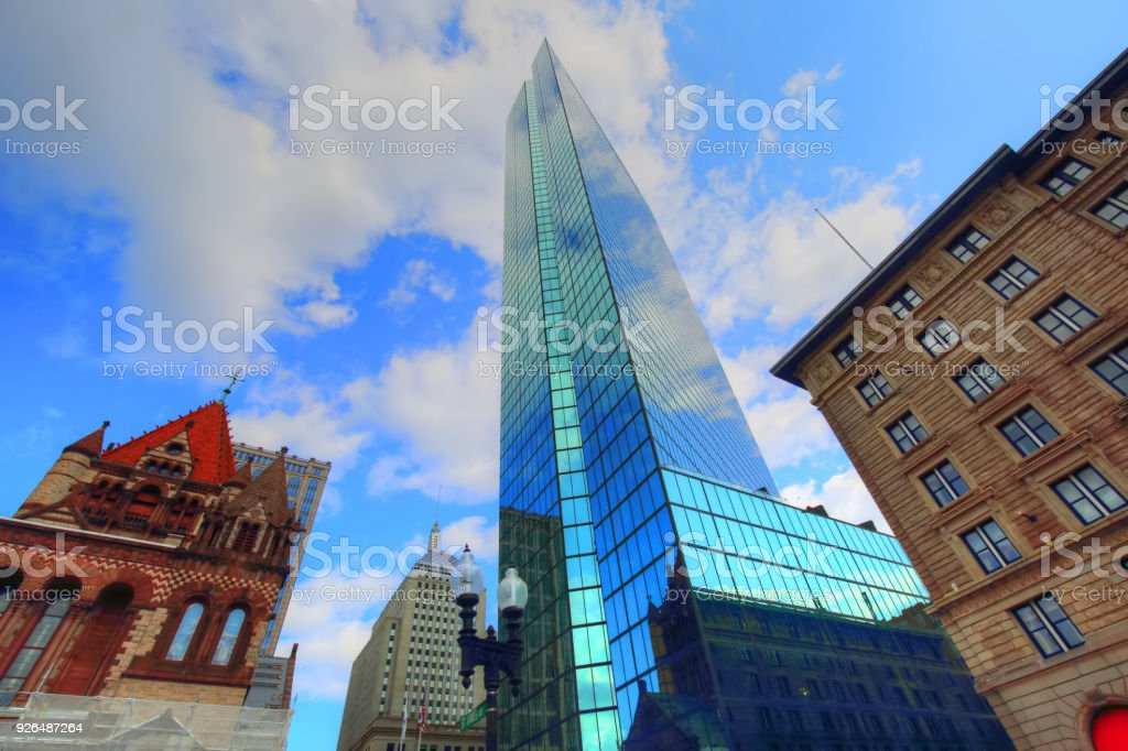 Boston Copley Square stock photo