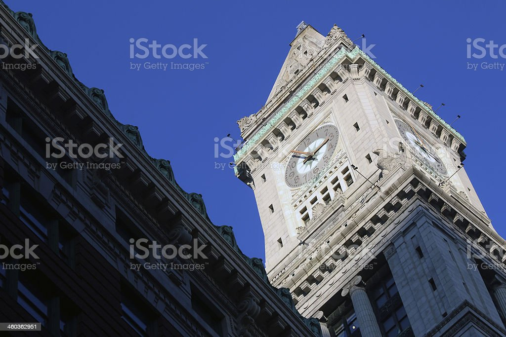 Boston Custom House late afternoon royalty-free stock photo