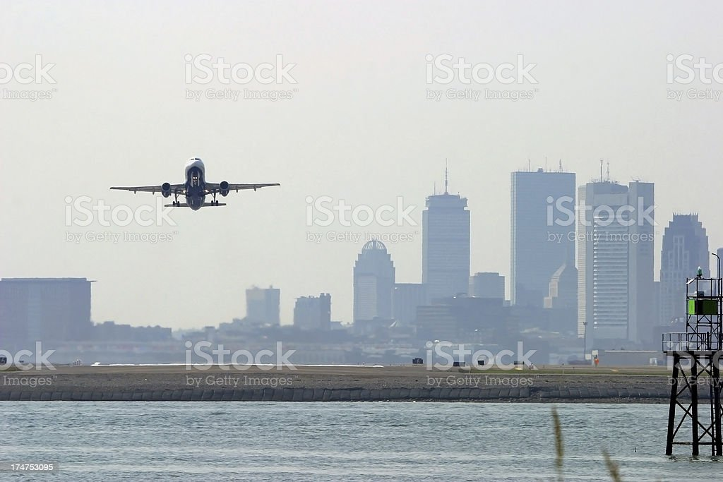 Boston Departure stock photo