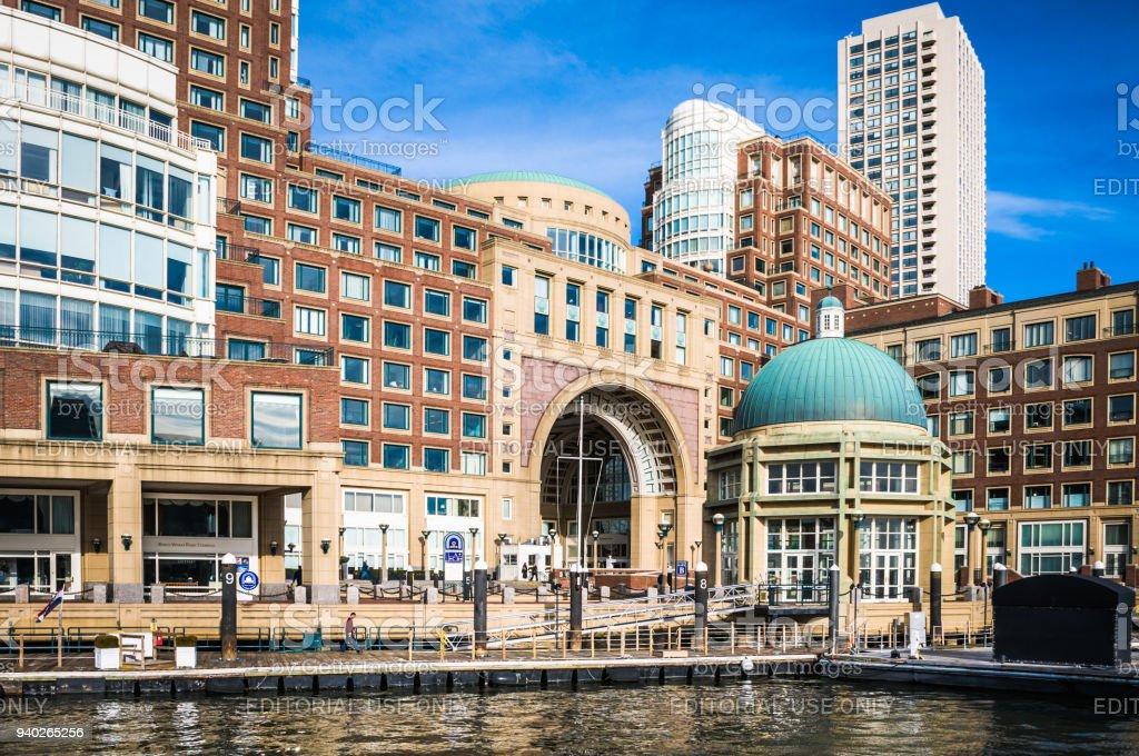 Boston Ferry Terminal stock photo
