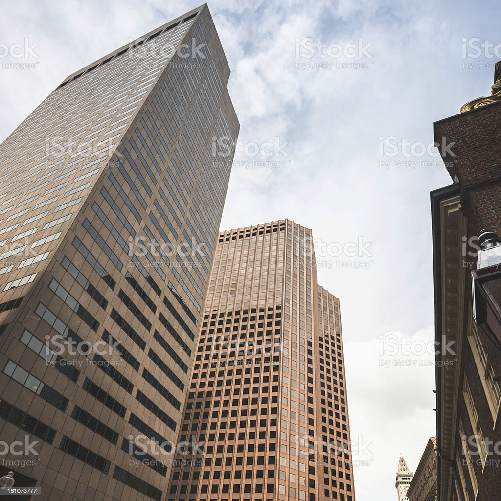 Boston financial district royalty-free stock photo