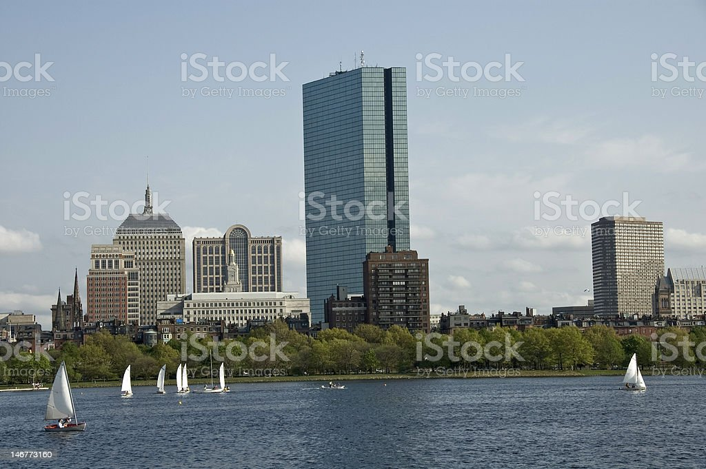 Boston from the Charles River stock photo