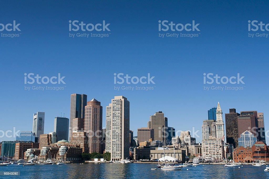 Boston from the Inner Harbor stock photo