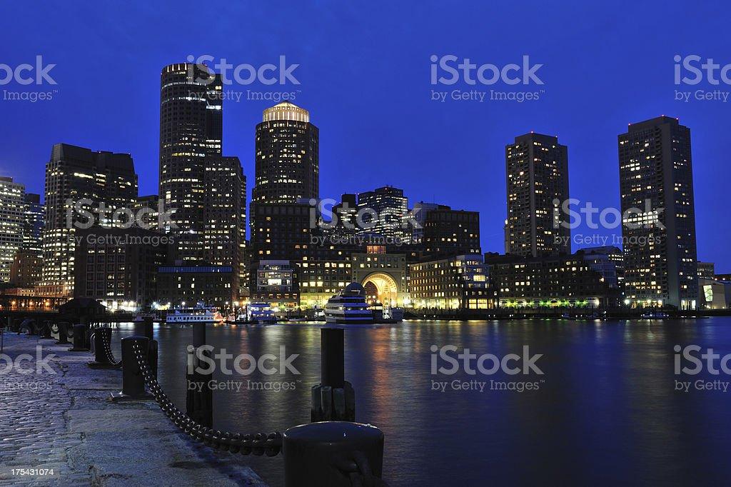 Boston Harbor Waterfront stock photo