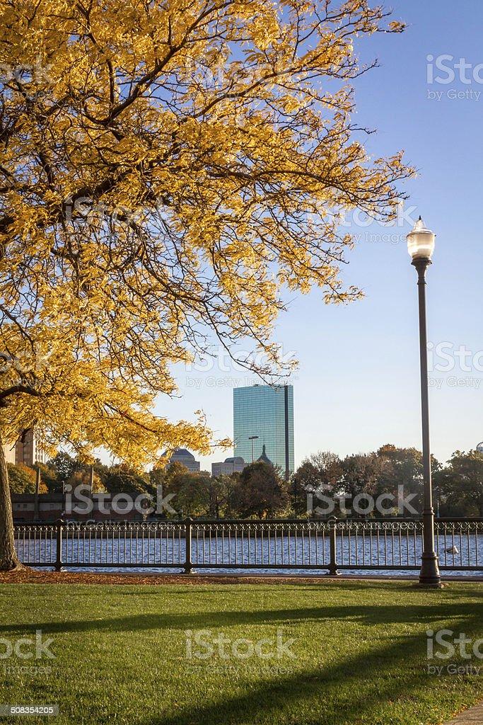 Boston in fall stock photo