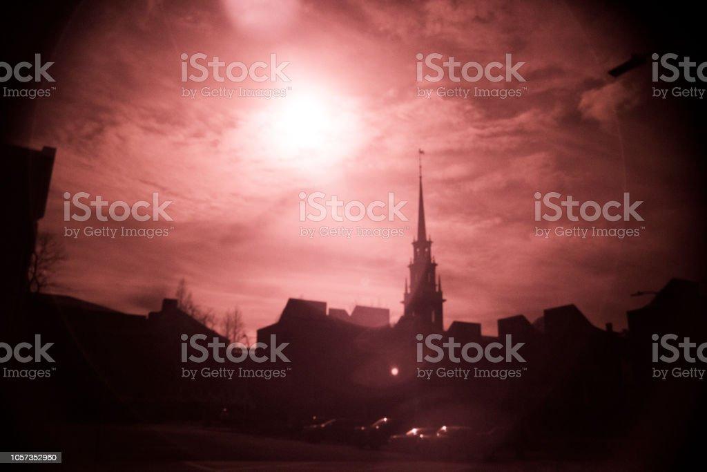 Boston, infrared filter, landscape, stock photo