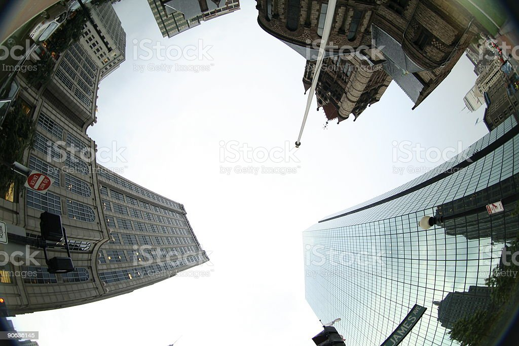 Boston Intersection stock photo
