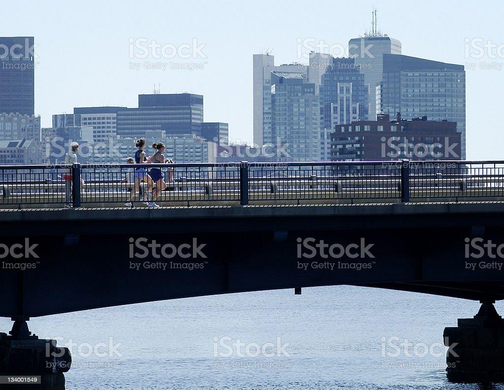 Boston Jogging stock photo