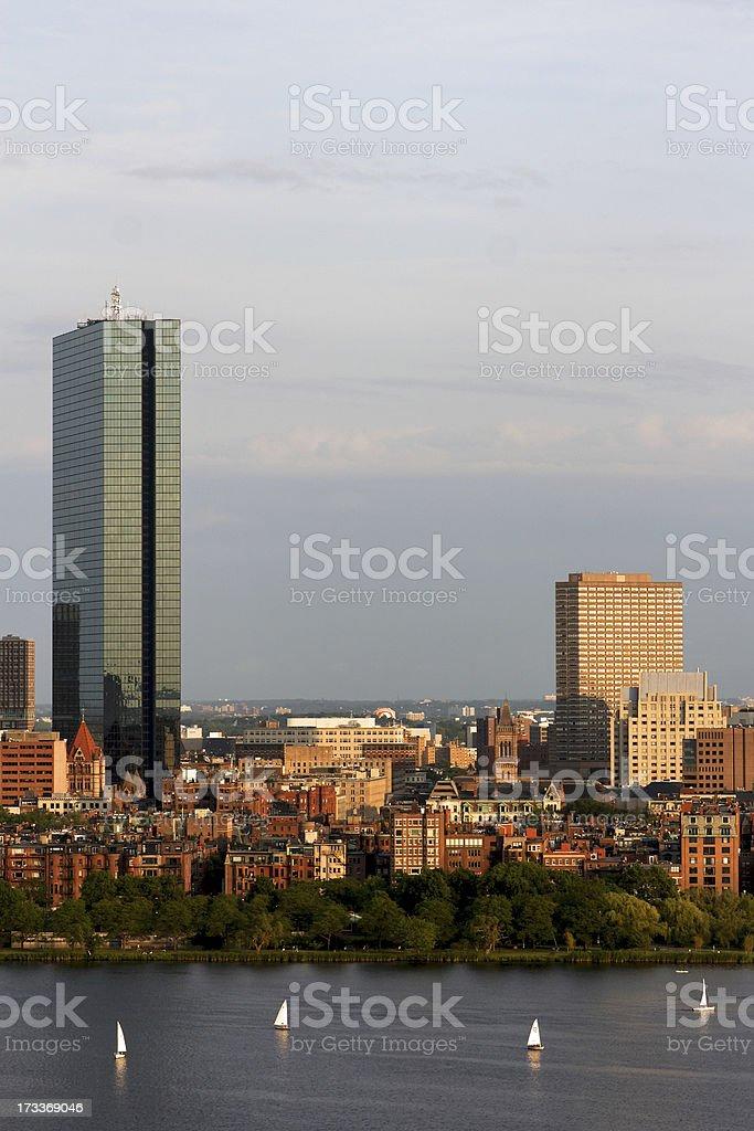 Boston John Hancock Tower Skyline royalty-free stock photo
