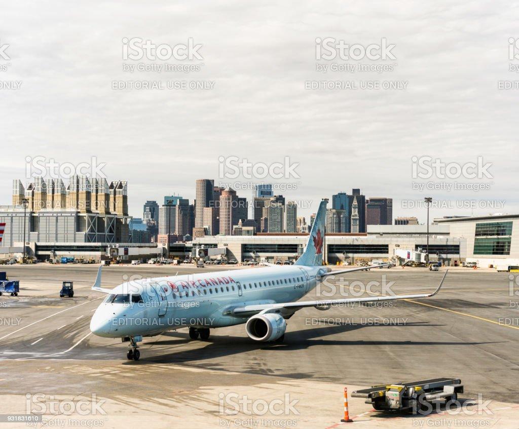 Boston Logan Airport stock photo