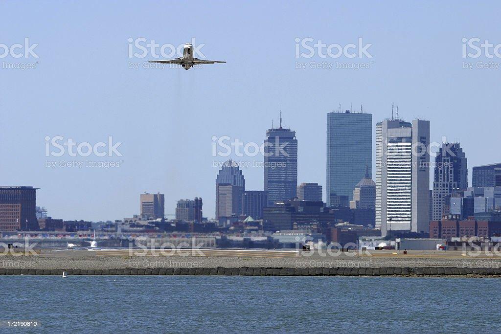 Boston Logan Departure stock photo