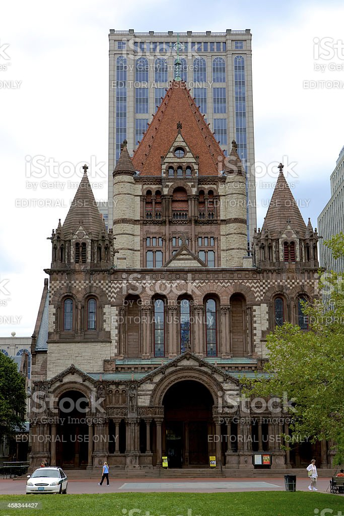 Boston MA, USA - Trinity Church royalty-free stock photo