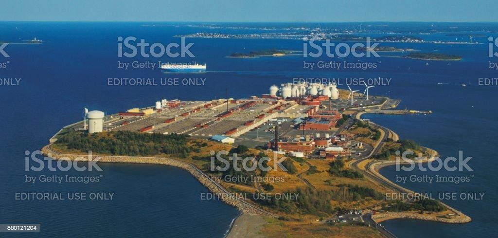Boston, MA Water Treatment Facility stock photo