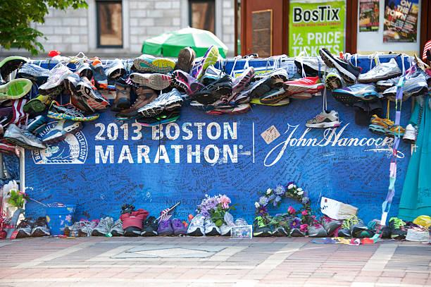 boston marathon 2013 - boston marathon stock photos and pictures