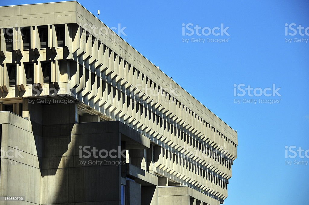 Boston, Massachusetts: City Hall stock photo