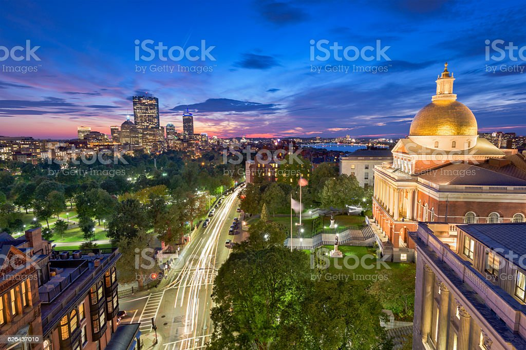 Cidade de Boston, Massachusetts - foto de acervo