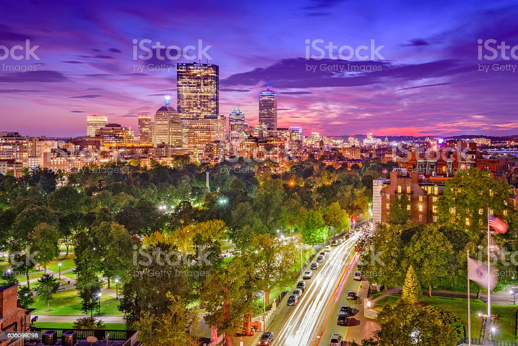 Boston Massachusetts Cityscape stock photo