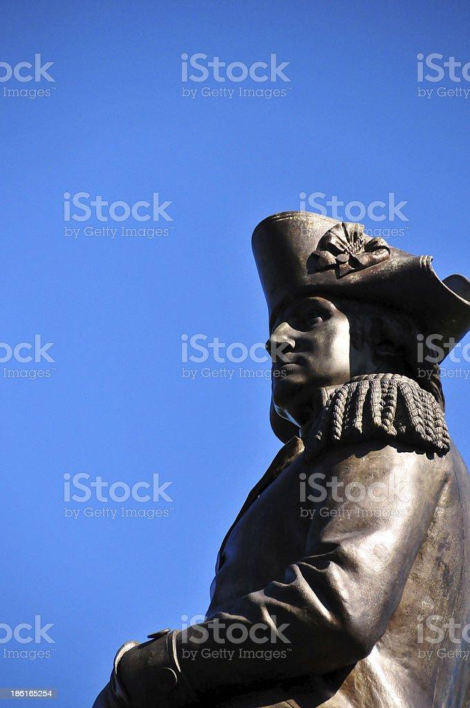 Boston, Massachusetts: George Washington statue (1869) royalty-free stock photo