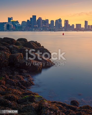 This is a photograph of the skyline of Boston, Massachusetts.