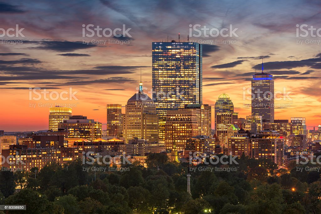 Boston Massachusetts Skyline stock photo