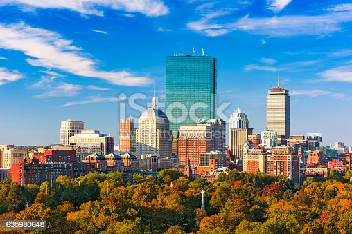istock Boston, Massachusetts Skyline 635980648