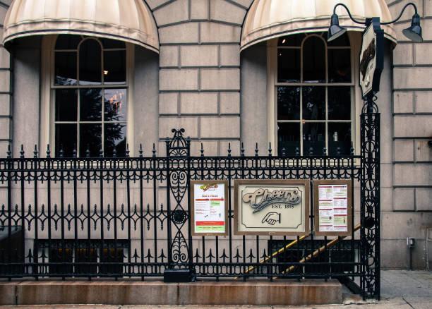 Boston, Massachusetts / USA: Cheers Restaurant entrance stock photo