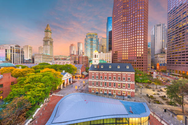 Boston, Massachusetts, USA Downtown Markets und Cityscape – Foto