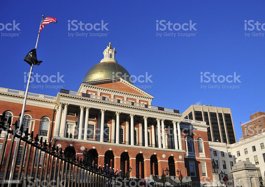 Boston, Massachusetts, USA: Massachussetts State House royalty-free stock photo