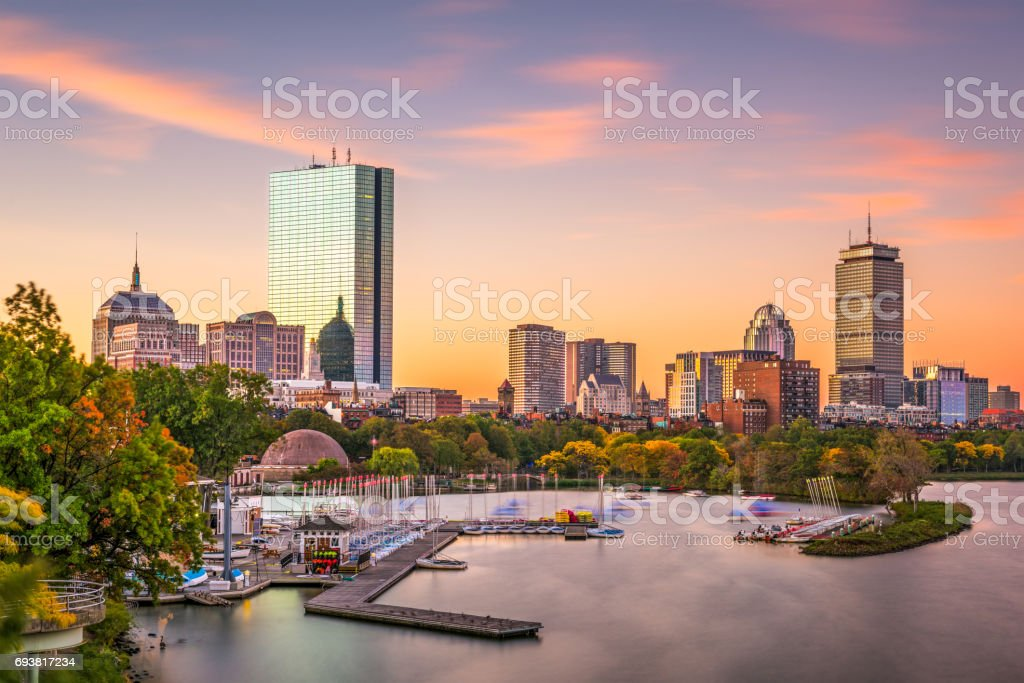 Boston, Massachusetts, EUA - foto de acervo