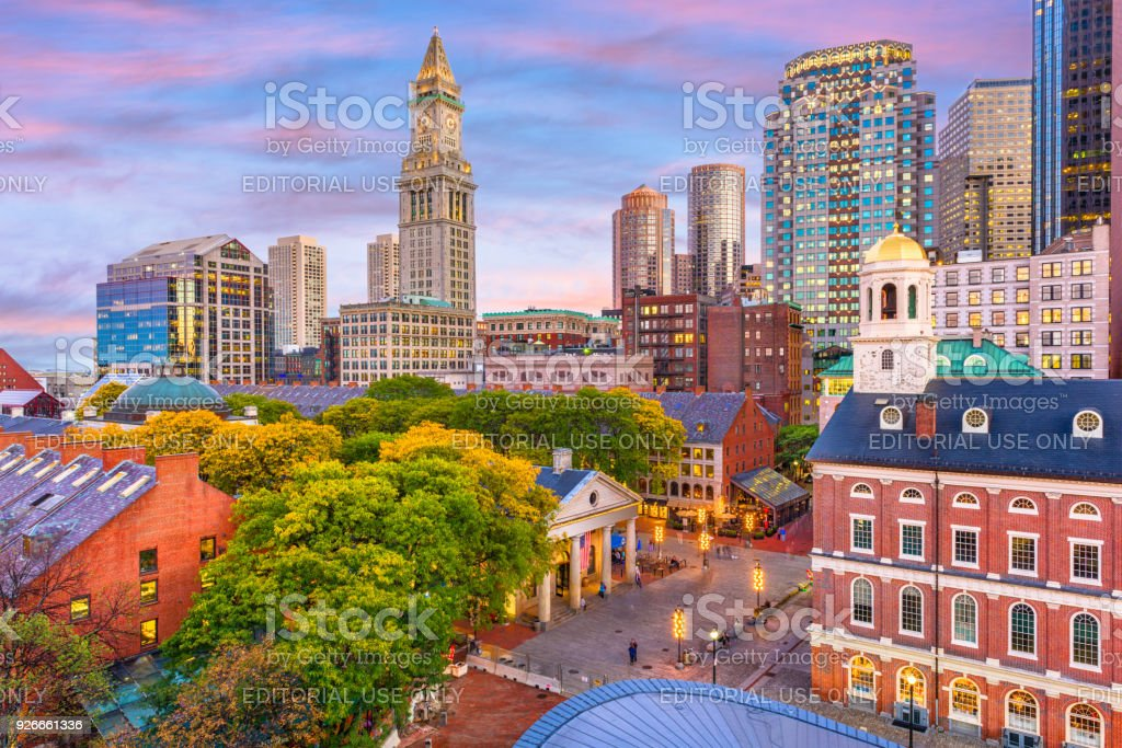 Worcester Massachusetts Skyline Stock Photo - Download